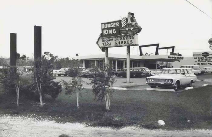 Один из первых Burger King, 1965 год